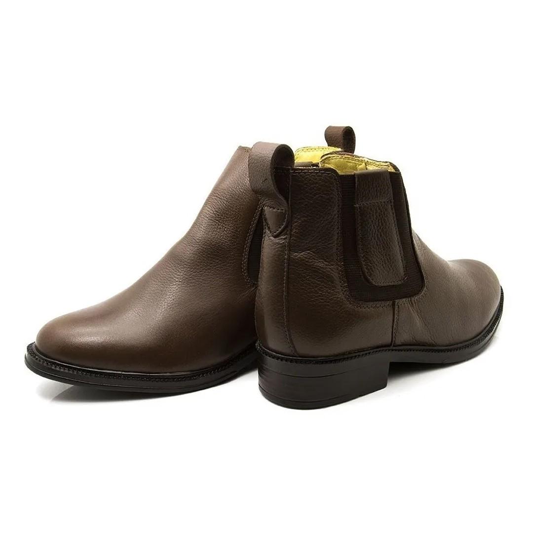 Botina Com Elástico Keep Shoes Café 2300