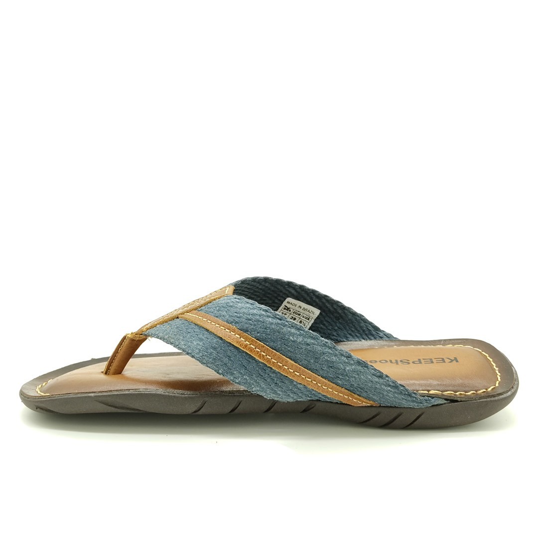 Chinelo Keep Shoes Conhaque Jeans 10112L