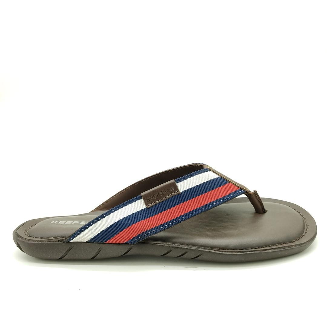 Chinelo Keep Shoes Mouro/Branco/Marfim/Vermelho 10110L