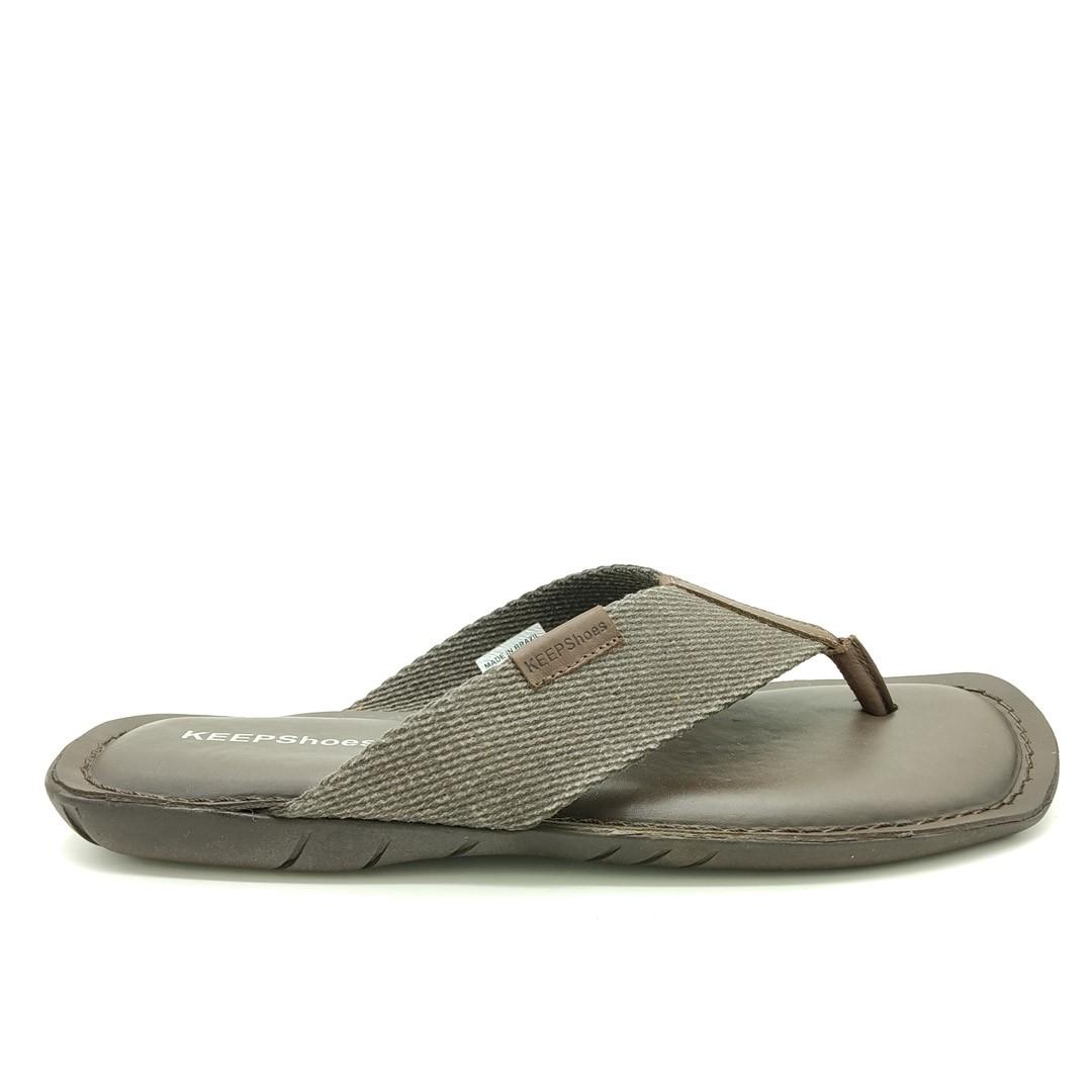 Chinelo Keep Shoes Mouro Café 10107L