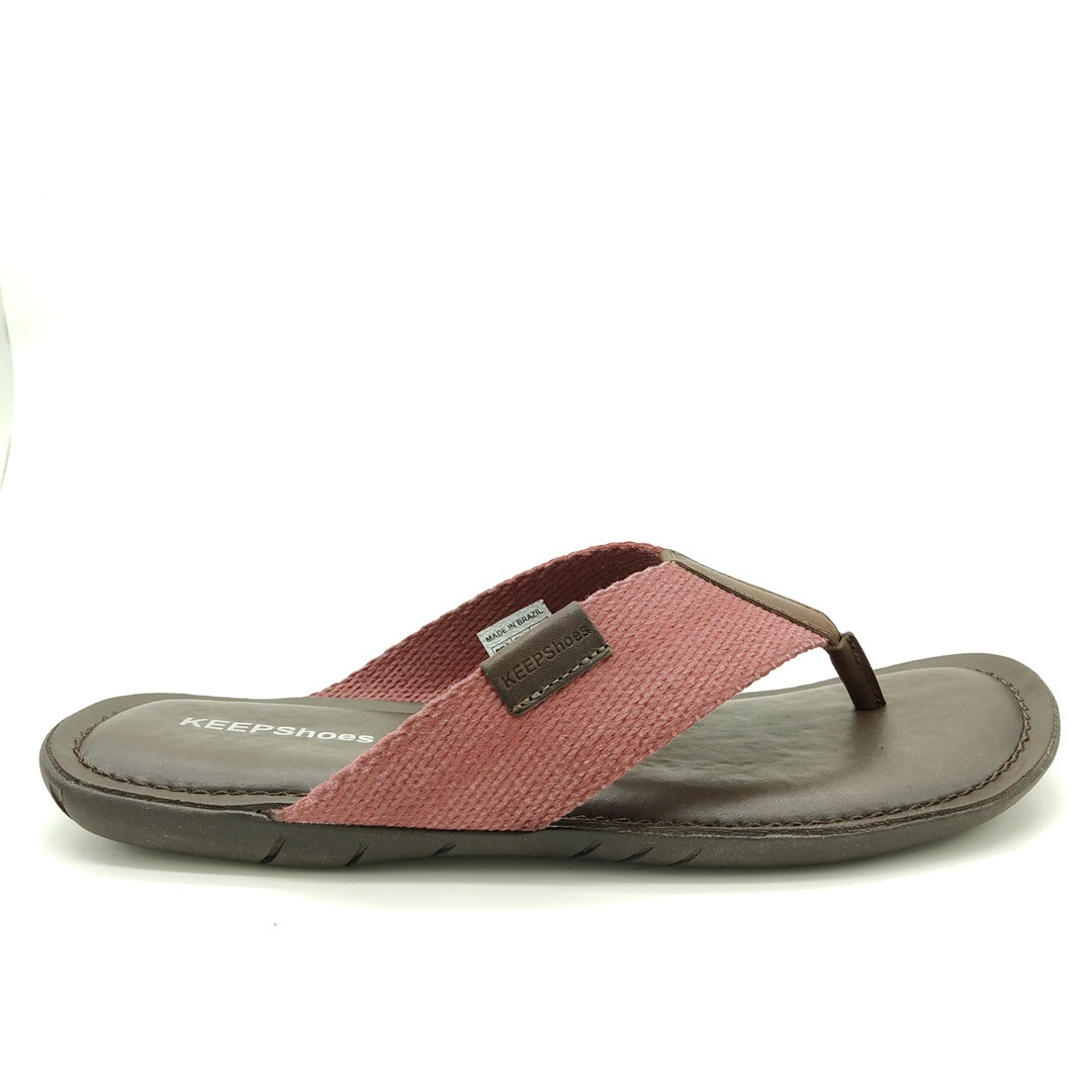 Chinelo Keep Shoes Mouro Vinho 10107L