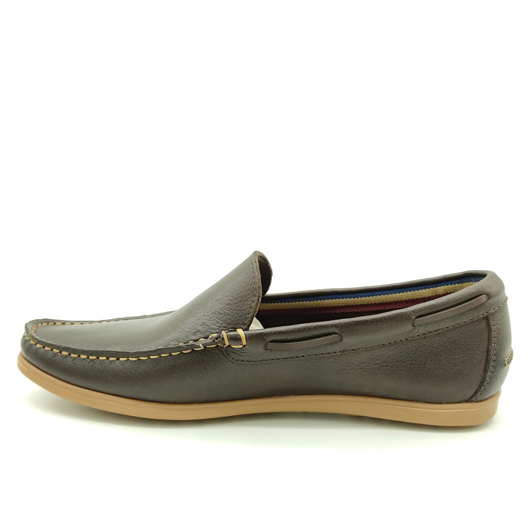 Mocassim Estilo Drive Keep Shoes Café 1312L