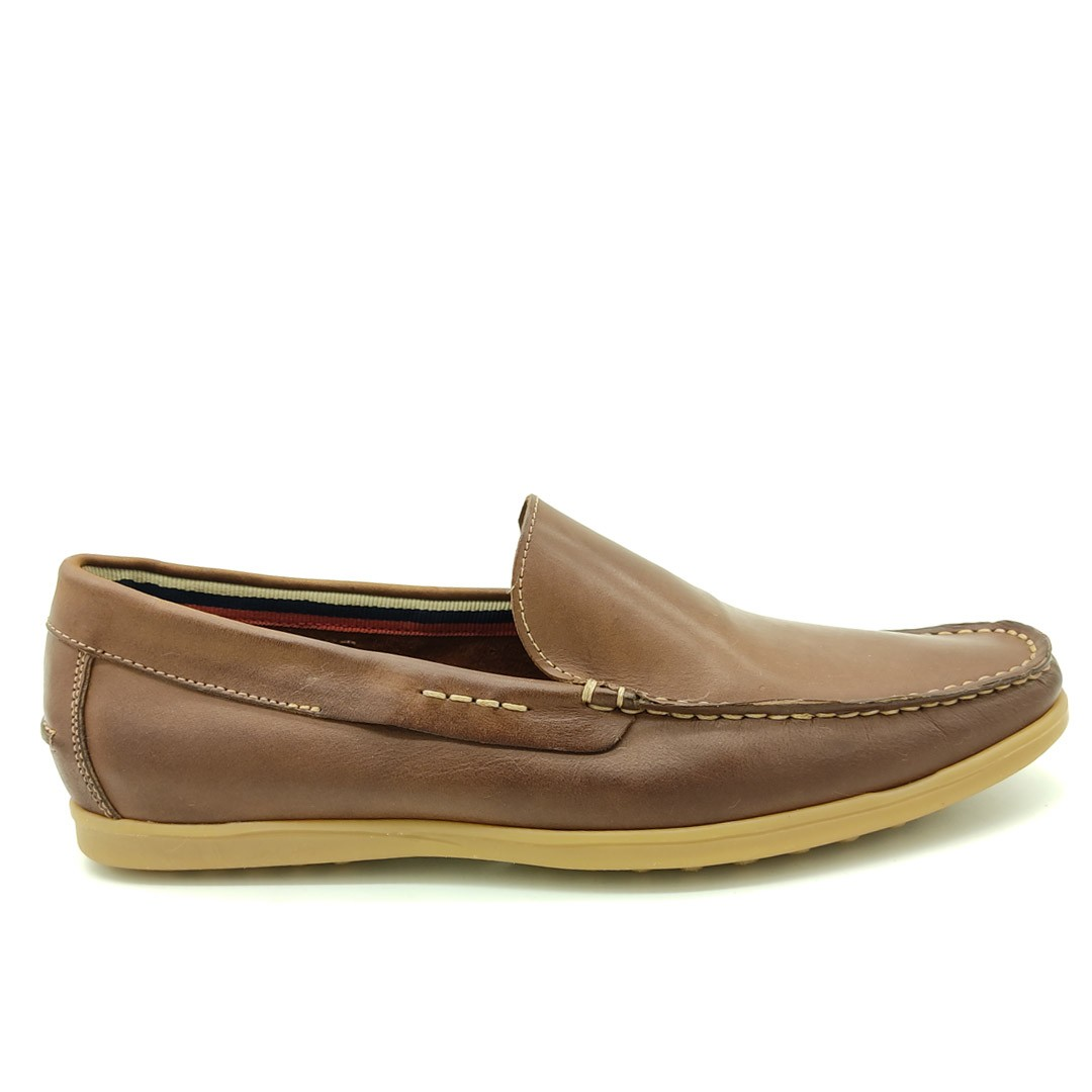 Mocassim Estilo Drive Keep Shoes Canela 1319