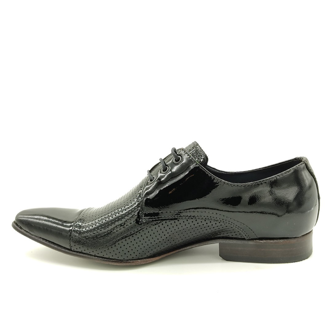 Sapato Social Keep Shoes Preto Verniz 307