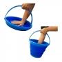 Balde Retrátil 10 Litros Silicone Hydrus Azul Sanremo