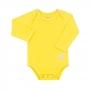 Body para Bebê com Proteção Solar UV 50+ Manga Longa Amarelo Vitho
