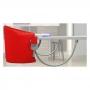 Cadeira de Alimentação Portatil Suspensa Infantil Vermelha Sapeca Kids