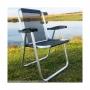 Cadeira de Praia Alumínio Resistente Alta Cancun Plus Preta Zaka