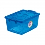 Caixa Organizadora Com Trava 7,5L Azul Ordene