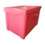 Caixa Organizadora Grande Com Trava 30L Rosa Sanremo
