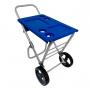 Carrinho de Praia Com Suporte Alumínio Reforçado Smart Car Azul Zaka