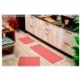Jogo de Tapete Cozinha 3 Peças Pratik Ondas Vermelhas Oasis