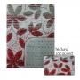 Jogo de Tapete para Banheiro Pratik 3 Peças Flores Vermelhas Oasis