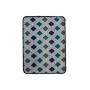 Jogo de Tapete para Banheiro Pratik 3 Peças Mosaico Azul Oasis