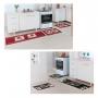 Kit 2 Jogos De Tapete Cozinha Madrid Tulipa e Pinguim Oasis