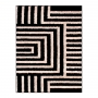 Tapete para sala 1,00 x 1,50 Art Desenho 01 Preto Oasis