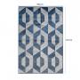 Tapete para Sala Design Rústico Belga Stillo 100 x140 cm Des 29