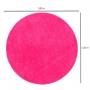 Tapete para Sala Redondo 1,00 Classic Rosa Pink Oasis