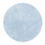 Tapete para Sala Redondo 1,50 Classic Azul Bebe Oasis