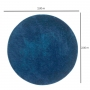 Tapete para Sala Redondo 2,00 Classic Azul Jeans Oasis