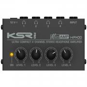 Amplificador de Fone KSR HA400 (4 Canais)