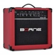 Borne Amplificador Cubo para Guitarra STRIKE G30 Vermelho (6''/15w RMS)