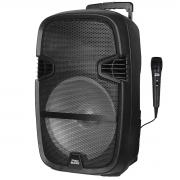 """Caixa Ativa Pro Bass STREET-15 + Microfone (15""""/500w/Função TWS/Bateria Recarregável)"""