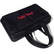 Capa Bag para 6 Microfones Com Fio Solid Sound Preto