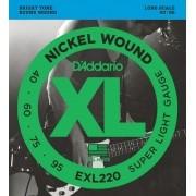 Encordoamento para Baixo 4C D'Addarío 040-095 - EXL220 (Nickel Wound)
