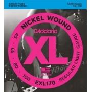 Encordoamento para Baixo 4C D'Addarío 045-100 - EXL170 (Nickel Wound)
