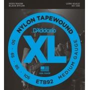 Encordoamento para Baixo 4C D'Addarío 050-105 - ETB92 (Black Nylon Tapewound)