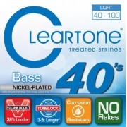Encordoamento para Contrabaixo 4 Cordas Cleartone 040-100 Nickel-Plated