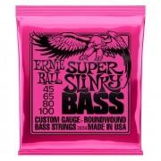 Encordoamento para Contrabaixo 4 Cordas Ernie Ball 045-100 Super Slinky - 2834