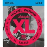 Encordoamento para Guitarra D'Addarío 012-054 - EXL145 (Nickel Wound)