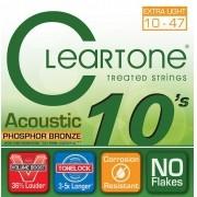 Encordoamento para Violão Aço Cleartone 010-047 Phosphor Bronze