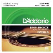 Encordoamento para Violão Aço D'Addarío 009-045 - EZ890-B (1 MI Extra)