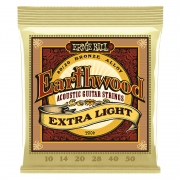 Encordoamento Para Violão Aço Ernie Ball 010-050 Earthwood Extra Light - 2006