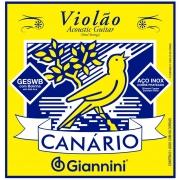 Encordoamento para Violão Aço Giannini 011-045 - Canário GESWB
