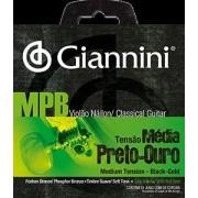 Encordoamento para Violão Nylon Giannini 028-043 ? GENWBG (Preto/Ouro)