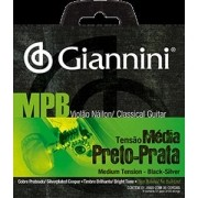 Encordoamento para Violão Nylon Giannini 028-043 ? GENWBS (Preto/Prata)