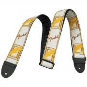 Fender Correia para Instrumentos Nylon (Branca/Logo Marrom)