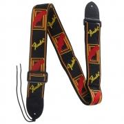 Fender Correia para Instrumentos Nylon (Preta/Logo Amarelo)