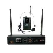 Kadosh Microfone Headset / Lapela Sem Fio K-501H (UHF/Display Digital)