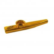Kazoo Metálico Profissional (Dourado)