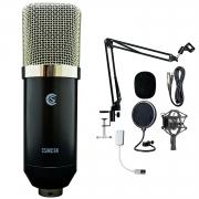 Kit para Studio Custom Sound CSMC-6K (Microfone Condensador + Acessórios)