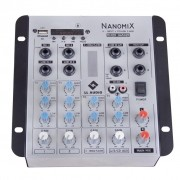 LL Audio Mixer Nanomix NA502R BT (4 Canais/USB/Cartão SD/Bluetooth/FM)