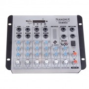 LL Audio Mixer Nanomix NA702R BT (6 Canais/USB/Cartão SD/Bluetooth/FM)