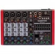 Mixer Compacta Soundvoice MC6PLUS (6 Canais/Efeito/Equalizador/Bluetooth/USB)