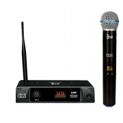 Microfone Sem Fio Dylan UDX-01 MULTI (UHF/Display Digital com 30 Canais)