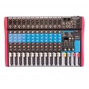 Mixer Soundvoice MS-122 EUX (12 Canais/USB/Equalizador 7 Bandas/Efeito Digital)